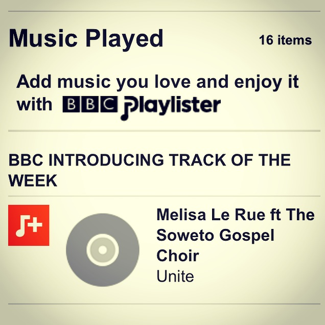 BBC Introducing Track of the week